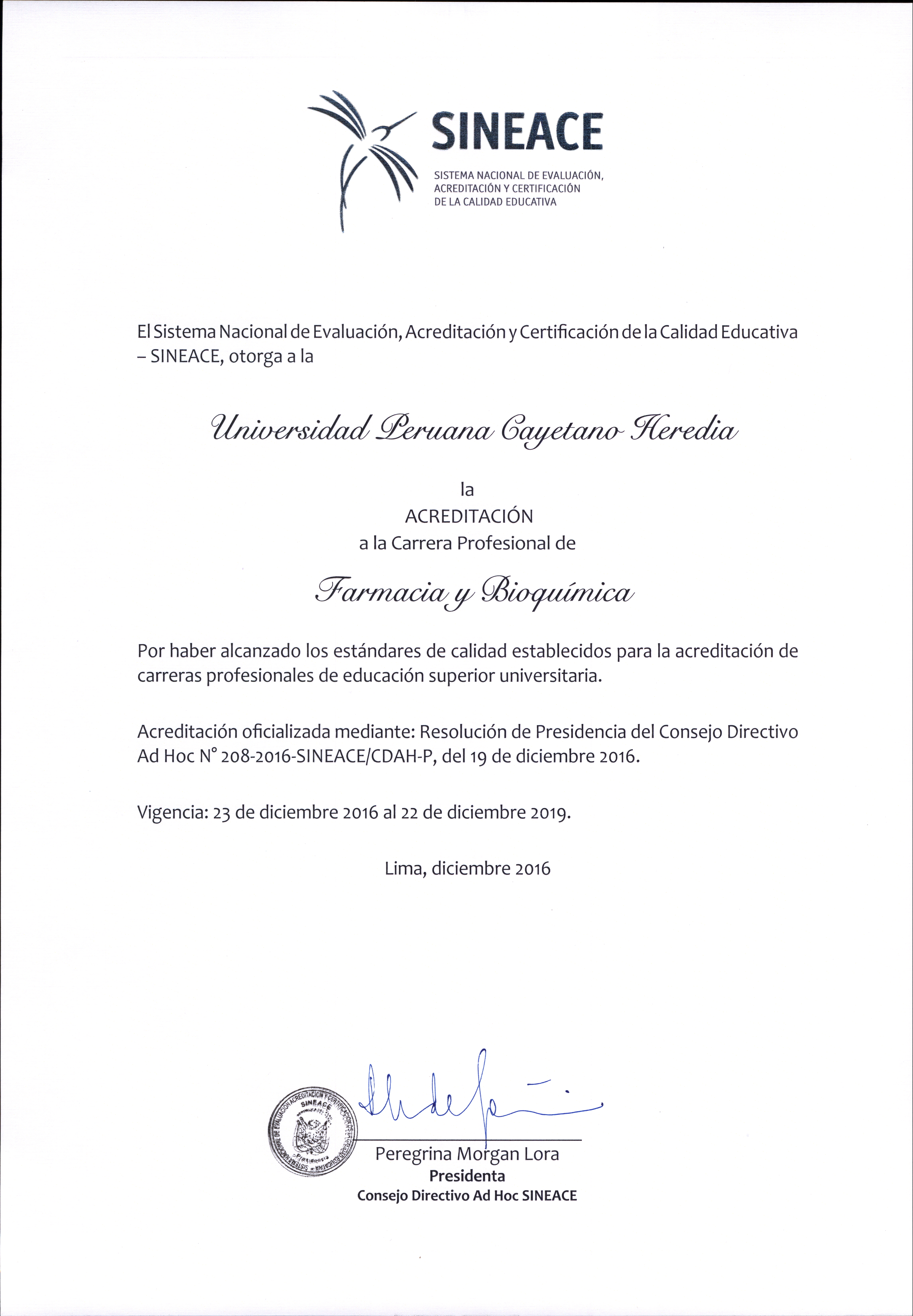 ACREDITACION FARMACIA CERTIFICADO